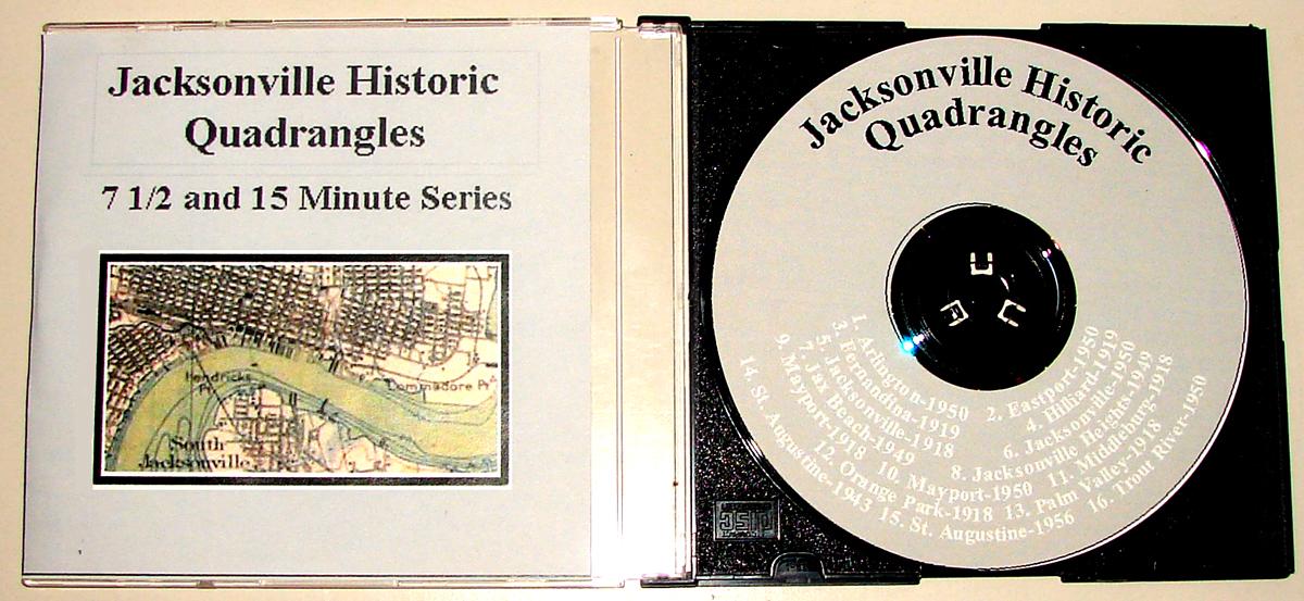 Jacksonville Historical Quadrangles CD