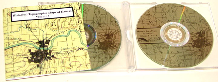 Historical Topo Maps of Kansas Vol. 1 CD