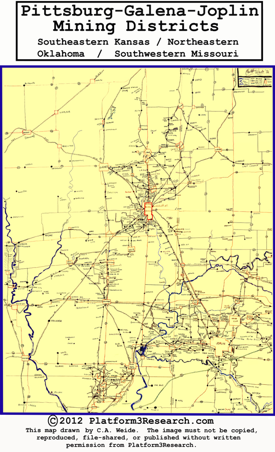 Pittsburg-Galena-Joplin Mining District Map