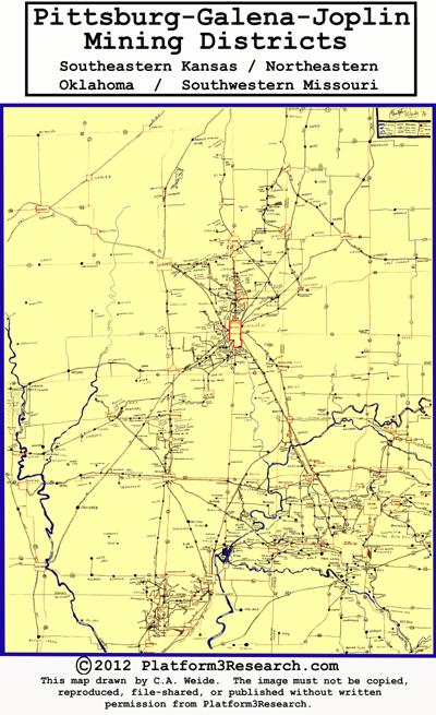 Pittsburg-Galena-Joplin Mining Map